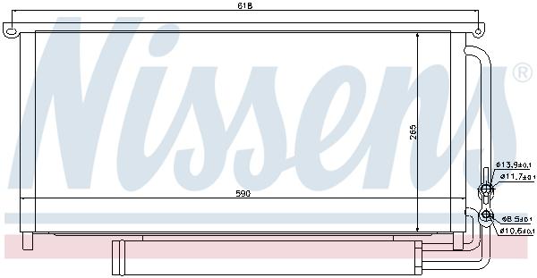 Condenseur / Radiateur de climatisation NISSENS 94840 (X1)