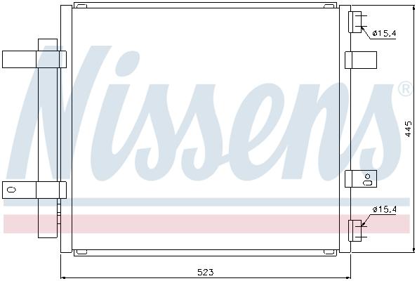 Condenseur / Radiateur de climatisation NISSENS 94866 (X1)