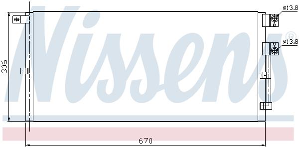 Condenseur / Radiateur de climatisation NISSENS 94916 (X1)