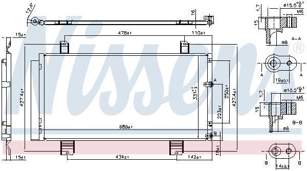 Condenseur / Radiateur de climatisation NISSENS 94950 (X1)