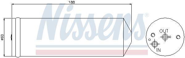 Bouteille deshydratante NISSENS 95065 (X1)
