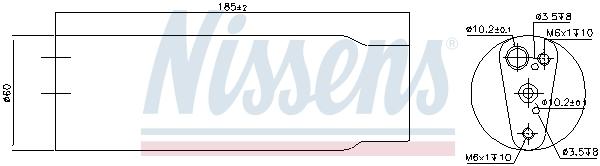 Bouteille deshydratante NISSENS 95170 (X1)