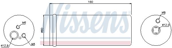 Bouteille deshydratante NISSENS 95171 (X1)