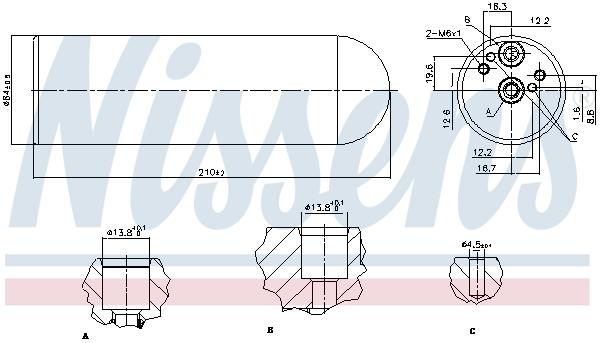 Bouteille deshydratante NISSENS 95231 (X1)