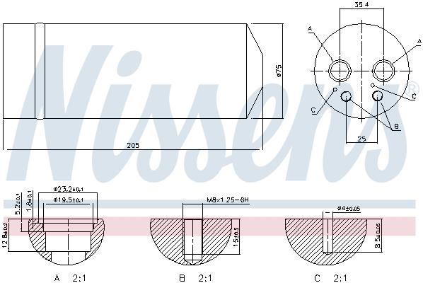 Bouteille deshydratante NISSENS 95314 (X1)