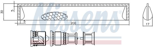 Bouteille deshydratante NISSENS 95351 (X1)