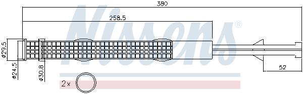 Bouteille deshydratante NISSENS 95359 (X1)