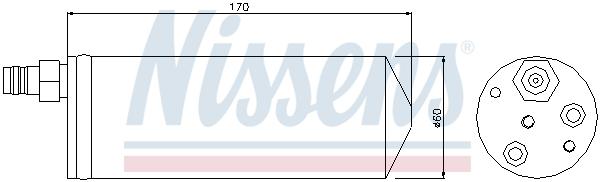Bouteille deshydratante NISSENS 95363 (X1)