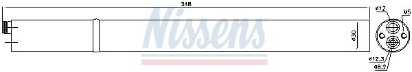 Bouteille deshydratante NISSENS 95366 (X1)