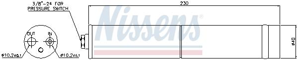 Bouteille deshydratante NISSENS 95383 (X1)