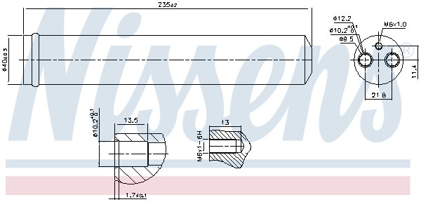 Bouteille deshydratante NISSENS 95452 (X1)
