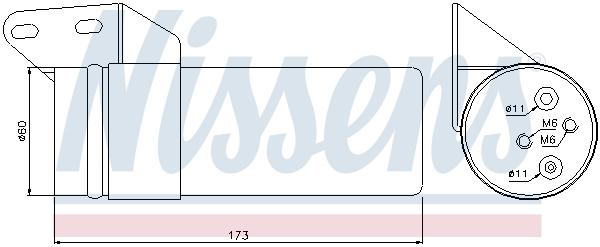 Bouteille deshydratante NISSENS 95476 (X1)