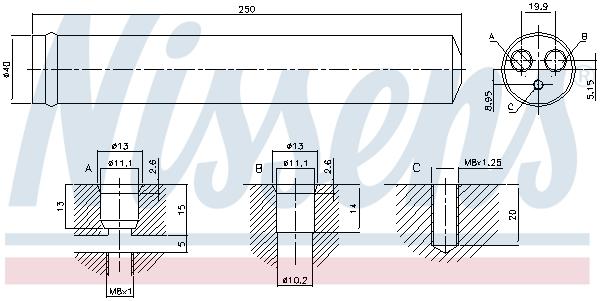 Bouteille deshydratante NISSENS 95522 (X1)