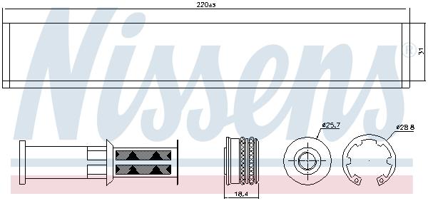 Bouteille deshydratante NISSENS 95598 (X1)