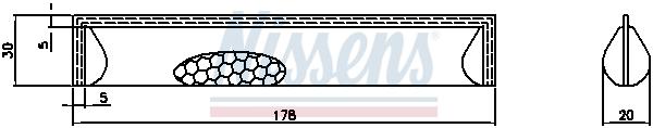Bouteille deshydratante NISSENS 95622 (X1)