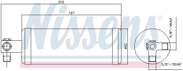 Bouteille deshydratante NISSENS 95980 (X1)
