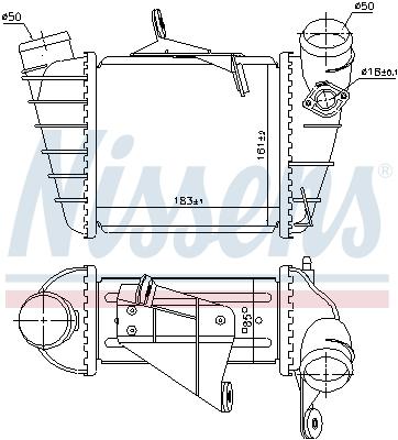 Intercooler radiateur de turbo NISSENS 961200 (X1)