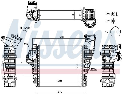 Intercooler radiateur de turbo NISSENS 961426 (X1)