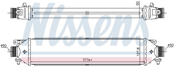 Intercooler radiateur de turbo NISSENS 961464 (X1)