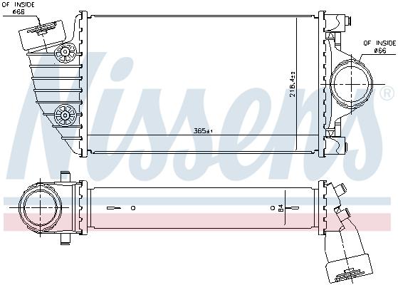 Intercooler radiateur de turbo NISSENS 96174 (X1)