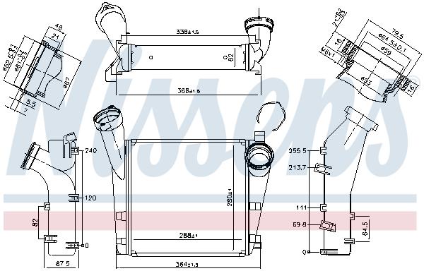 Intercooler radiateur de turbo NISSENS 96178 (X1)