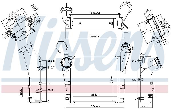 Intercooler radiateur de turbo NISSENS 96276 (X1)