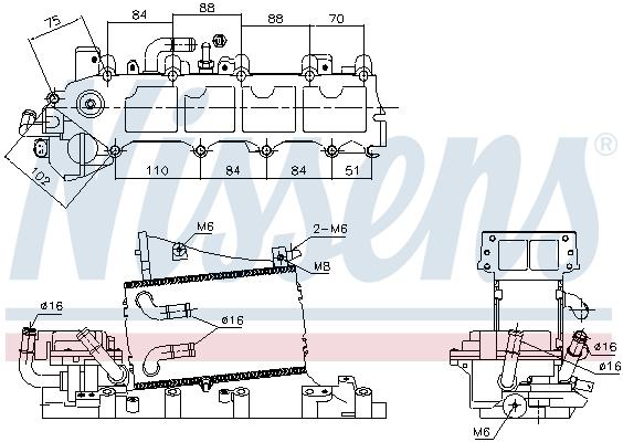 Intercooler radiateur de turbo NISSENS 96317 (X1)