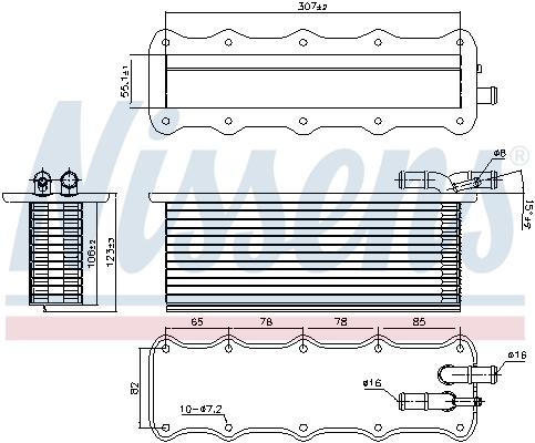 Intercooler radiateur de turbo NISSENS 96318 (X1)