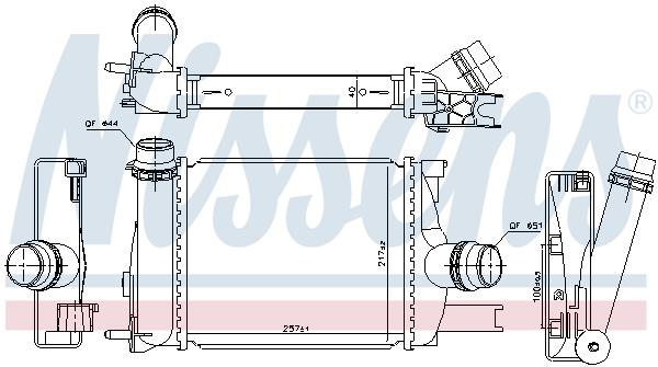 Intercooler radiateur de turbo NISSENS 96328 (X1)