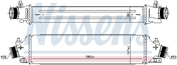 Intercooler radiateur de turbo NISSENS 96406 (X1)