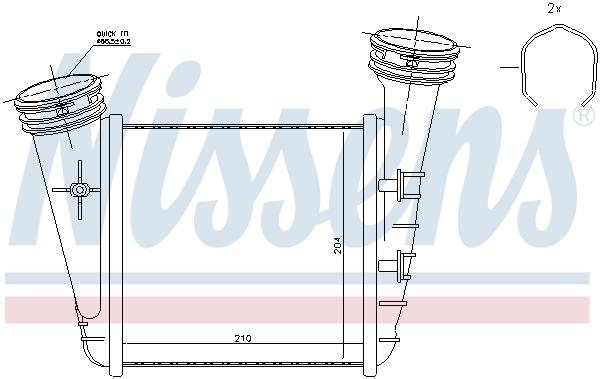 Intercooler radiateur de turbo NISSENS 96468 (X1)