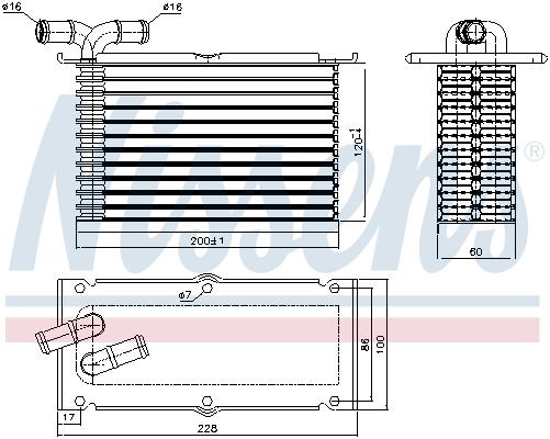 Intercooler radiateur de turbo NISSENS 96470 (X1)