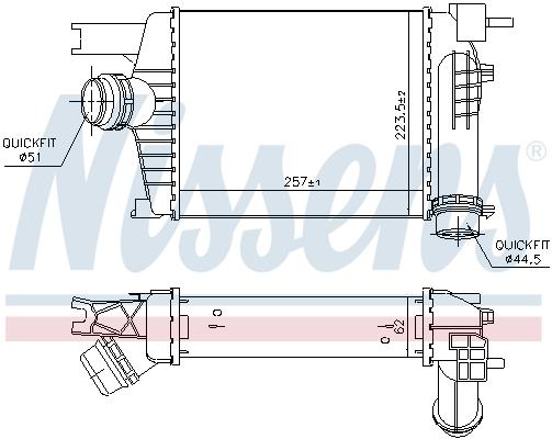 Intercooler radiateur de turbo NISSENS 96479 (X1)