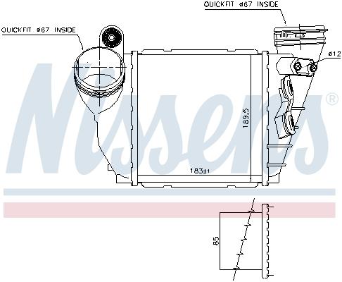 Intercooler radiateur de turbo NISSENS 96487 (X1)