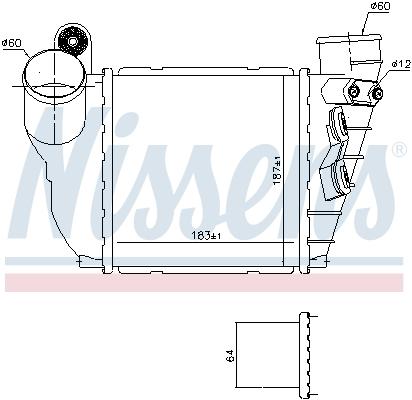 Intercooler radiateur de turbo NISSENS 96488 (X1)
