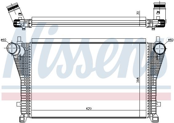 Intercooler radiateur de turbo NISSENS 96494 (X1)