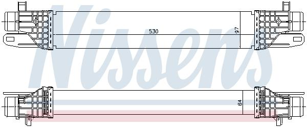 Intercooler radiateur de turbo NISSENS 96506 (X1)