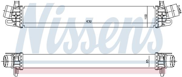Intercooler radiateur de turbo NISSENS 96507 (X1)