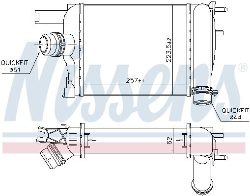 Intercooler radiateur de turbo NISSENS 96529 (X1)