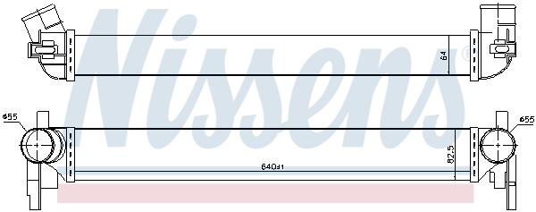 Intercooler radiateur de turbo NISSENS 96566 (X1)