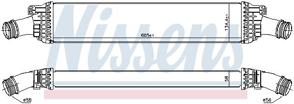 Intercooler radiateur de turbo NISSENS 96567 (X1)