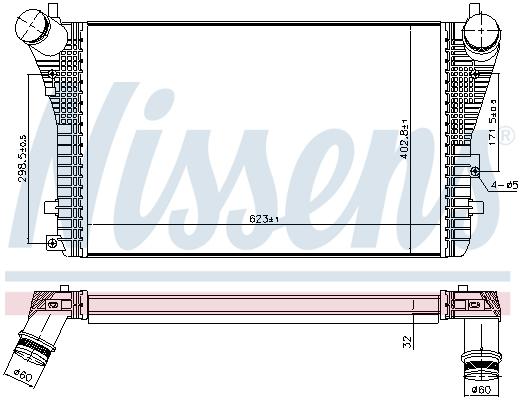 Intercooler radiateur de turbo NISSENS 96568 (X1)