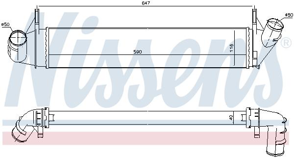 Intercooler radiateur de turbo NISSENS 96585 (X1)