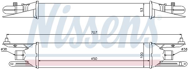 Intercooler radiateur de turbo NISSENS 96604 (X1)