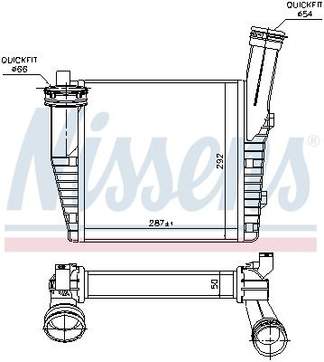 Intercooler radiateur de turbo NISSENS 96611 (X1)