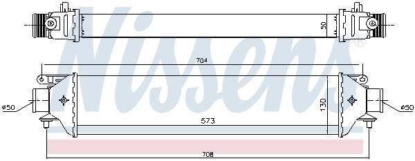 Intercooler radiateur de turbo NISSENS 96615 (X1)