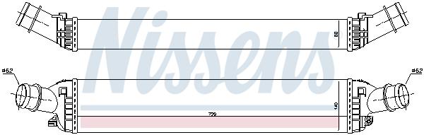 Intercooler radiateur de turbo NISSENS 96618 (X1)
