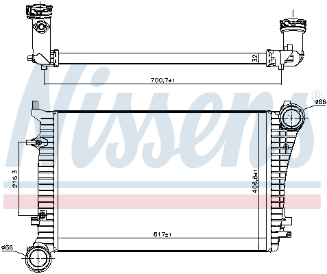 Intercooler radiateur de turbo NISSENS 96619 (X1)
