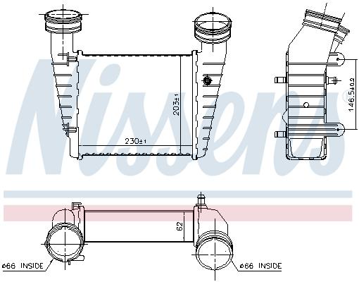 Intercooler radiateur de turbo NISSENS 96680 (X1)
