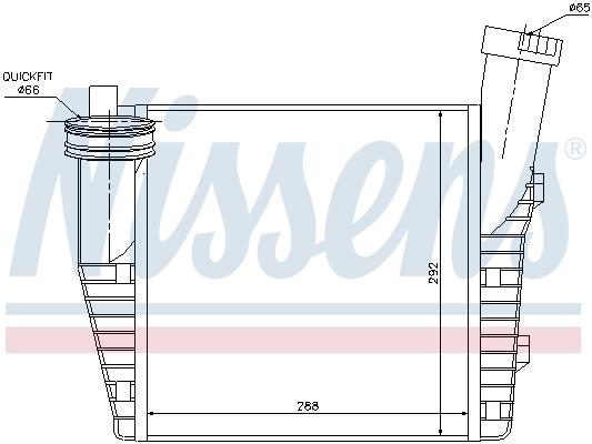 Intercooler radiateur de turbo NISSENS 96687 (X1)